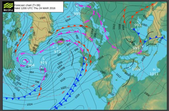 thursday pressure chart