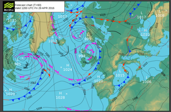 Low Pressure for Friday